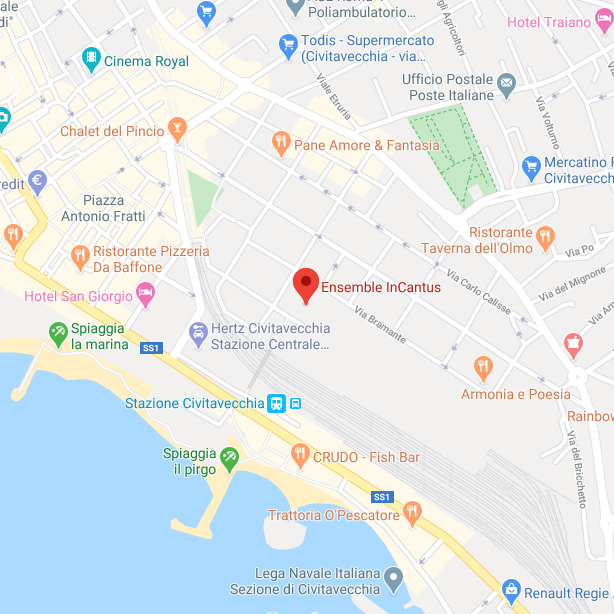 Mappa Associazione Filarmonica Ensemble InCantus